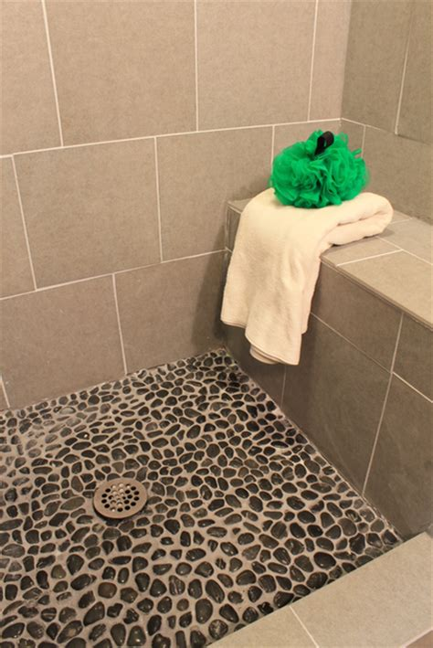 how to grout pebble tile 187 decor adventures