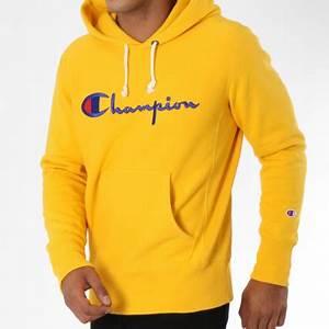 Sweat A Capuche Jaune : champion sweat capuche 212574 jaune ~ Melissatoandfro.com Idées de Décoration