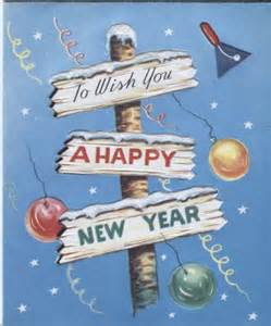 Vintage Happy New Year Sign