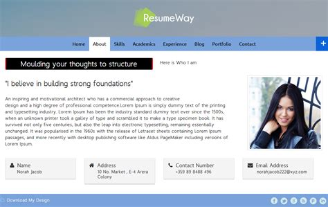 10 best resume vcard portfolio themes inkthemes
