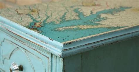 beach themed bedside tables mod podge a map to a table top bedside end tables for