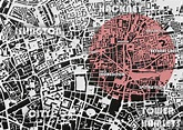 a map indicating the area of Shoreditch within the broader ...