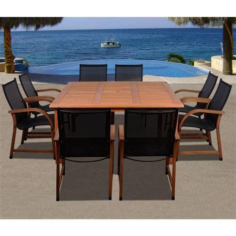 amazonia bahamas square 9 eucalyptus patio dining