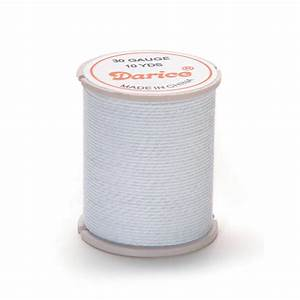 Cloth Covered Wire For Floral  U0026 Crafts  White  30 Gauge