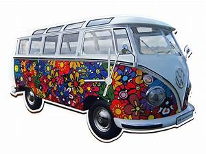Vw Bus T1 Kaufen : original vw bulli wanduhr t1 samba bus flowers kaufen ~ Jslefanu.com Haus und Dekorationen