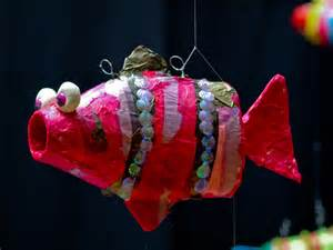 Recycled Plastic Bottle Fish Art