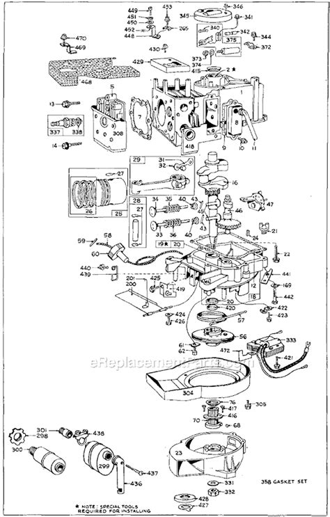 briggs  stratton  series parts list  diagram