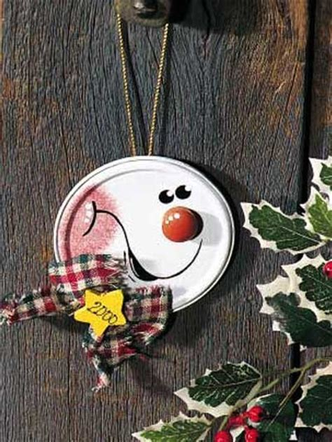 interesting diy snowman ornaments