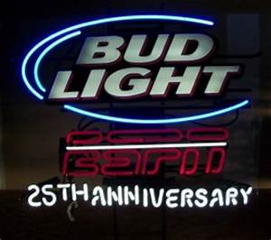 Bud Light ESPN 25th Anniversary Neon Beer Bar Sign