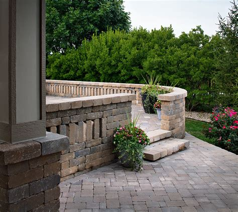 the patio westhton pavers walls patios steps grey beige dublin
