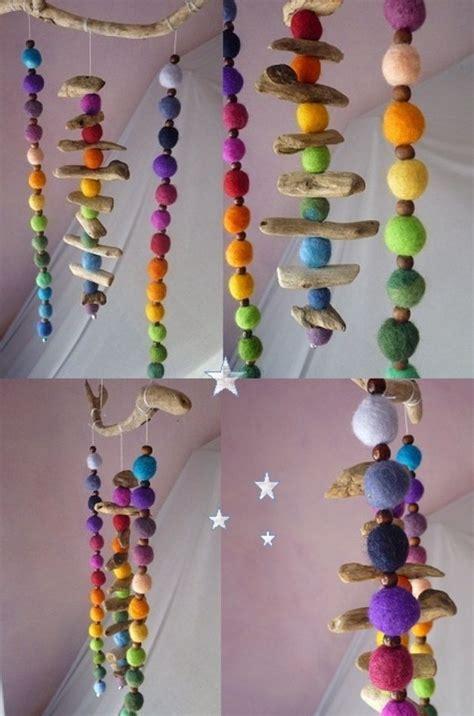 Deko Objekte Kinderzimmer by Deko Objekte Farbenfrohes Treibholz Regenbogen Filz