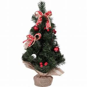 Buchsbaumkugel Künstlich 50cm : mini weihnachtsbaum mit weihnachtskugeln und schleifen ~ A.2002-acura-tl-radio.info Haus und Dekorationen