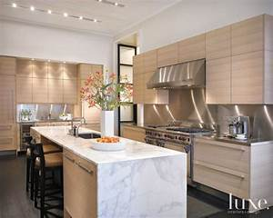 Modern White-Oak Kitchen - Luxe Interiors + Design