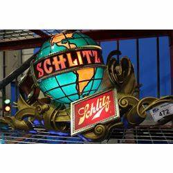 LIGHTED SCHLITZ VINTAGE BEER SIGN Able Auctions