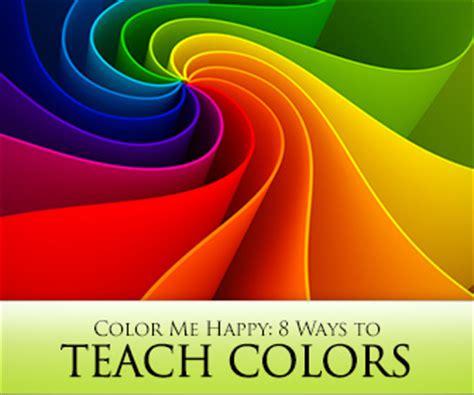 color  happy  ways  teach colors  english