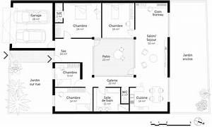 Plan maison plain pied 4 chambres ‒ Ooreka