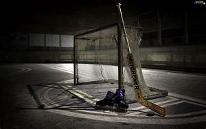 Skates, Stick, ice rink, gate, hockey - For phone ...