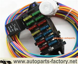 14 Circuit Hot Rod Universal Wiring Harness Muscle Car