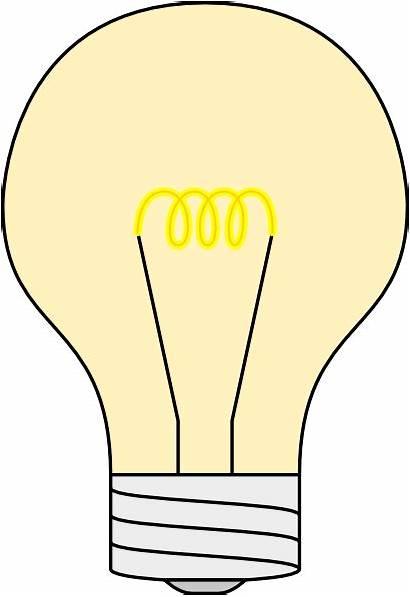 Bulb Clip Clipart Cartoon Vector Bulbs Lightbulb