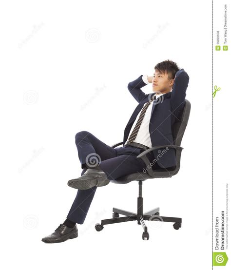 businessman sitting on a chair and thinking strategies
