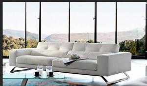 Canape cuir ou tissu choisir celui qui nous ressemble for Canape cuir blanc contemporain