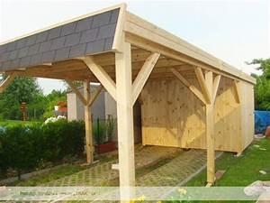 Carport Aus Holz : carport mit walmdach blende aus schindeln von 3 seiten ~ Orissabook.com Haus und Dekorationen