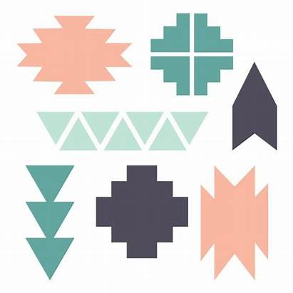 Navajo Clipart Shapes Stencils Indian Aztec Pattern