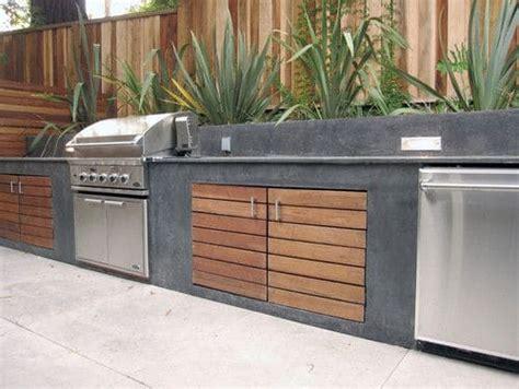 cuisine beton cire bois cuisine extérieure en béton 9 designs 5 bonnes raisons