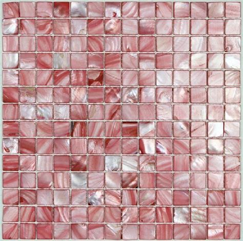 sea shell mosaic of pearl tile kitchen