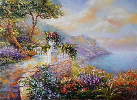 Paradise place Oil painting by Viktoria Lapteva   Artfinder