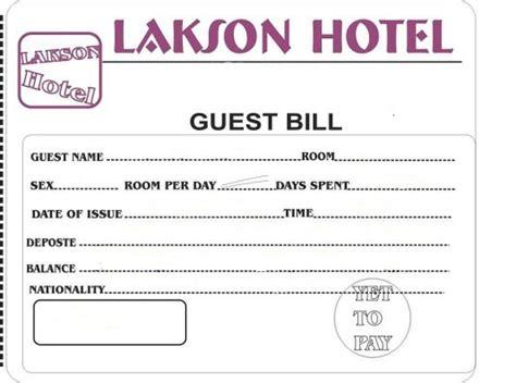 hotel bill formats  word website wordpress blog