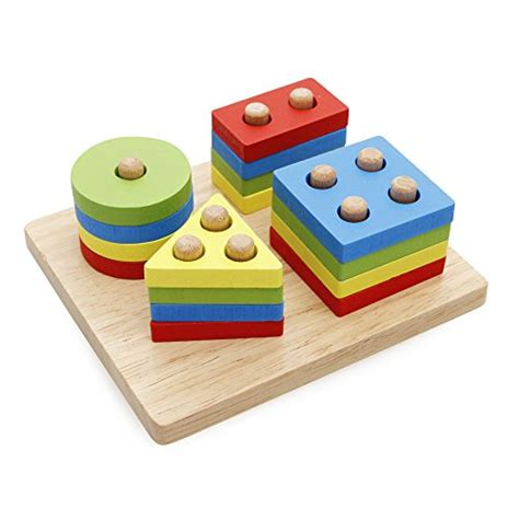 wooden educational preschool puzzle shape color 781   41Rh0gwFETL