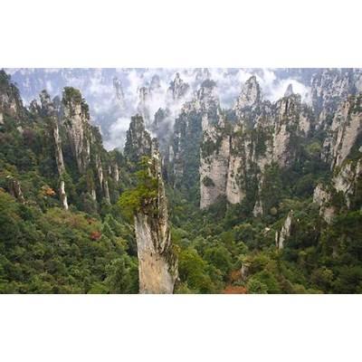 Wallpaper: Zhangjiajie National Park of China (Wulingyuan