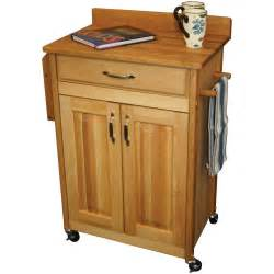 rolling kitchen island cart 27 quot catskill craftsmen kitchen cart deluxe butcher block 61532 everything kitchens