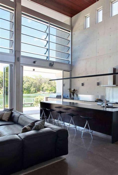 high ceilings concrete tilt panel walls  polished