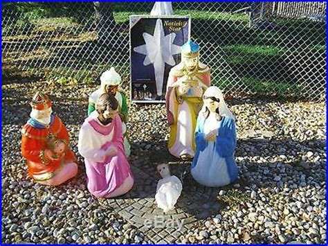 empire nativity blow mold set pcs christmas decor world
