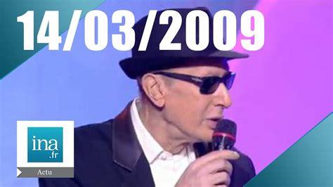 20h France 2 du 14 mars 2009 | Alain Bashung est mort ...