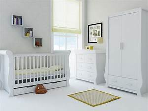 Babystyle Hollie sleigh Furniture Set – Fresh White – FREE ...