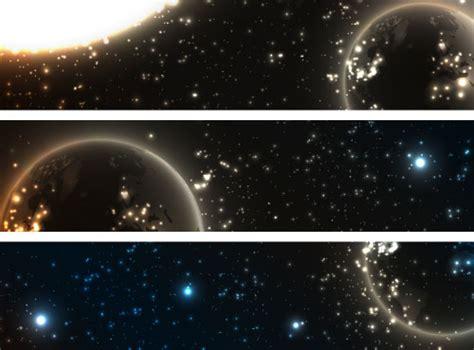 abstract starry sky vector banner  vector banner