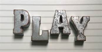 decorative metal letter play wall letter sign signage