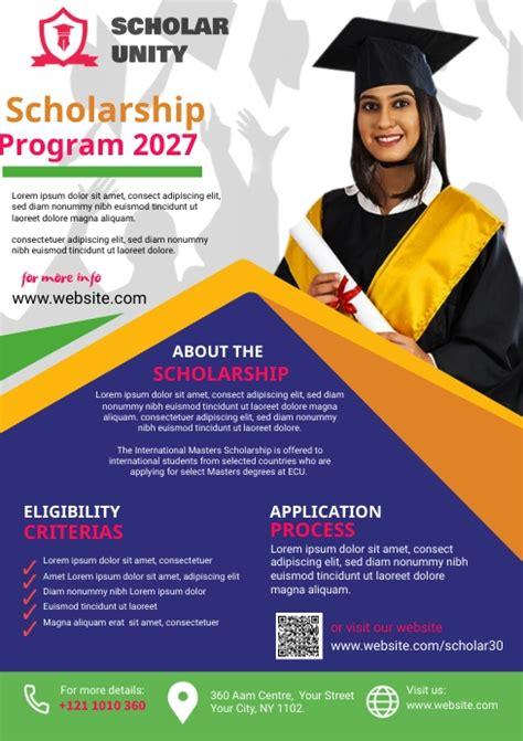 Copy of Scholarship Program Flyer | PosterMyWall