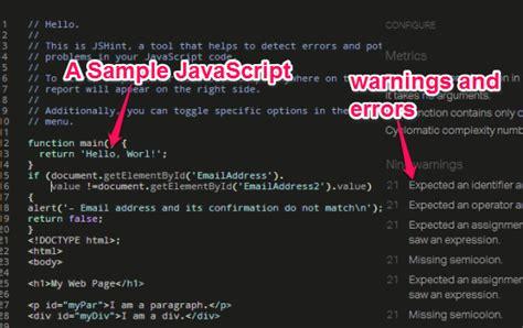Free Online Javascript Error Checker Tool
