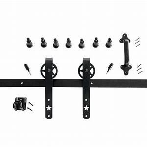 quiet glide mini strap black rolling barn door hardware With barn door hardware specs