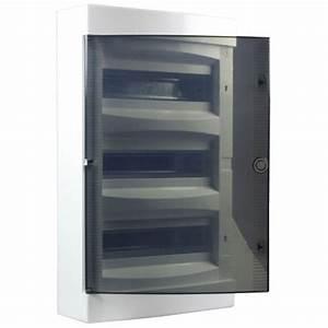 Porte Tableau Electrique : tableau lectrique nu 3 rang es 36 modules avec porte ~ Premium-room.com Idées de Décoration