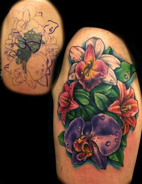 flower tattoo cover   jackie rabbit  jackierabbit  deviantart