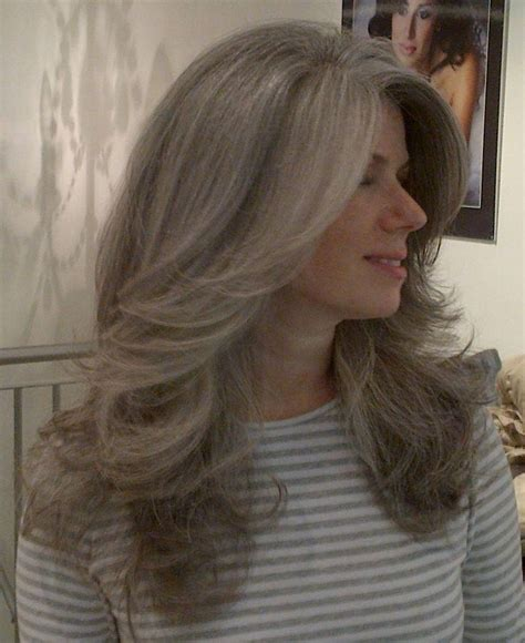 2019 Popular Long Hairstyles For Grey Hair