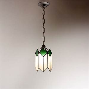Marvelous art deco pendant light with original stained