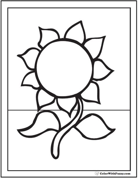 sunflower coloring page   printables