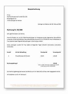 Rechnung Als Pdf : beispiel rechnung physiotherapie und osteopathie in esslingen ~ Themetempest.com Abrechnung