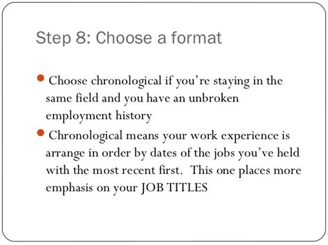 Chronological Resume Ppt by Resume Writing Ppt Presentation